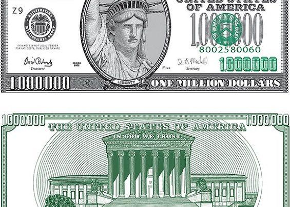 million dollar bills